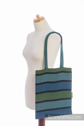 Shopping bag made of wrap fabric (100% cotton) - MOULIN - AQUARELLE - standard size 33cmx39cm