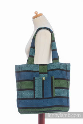 Shoulder bag made of wrap fabric (100% cotton) - MOULIN - AQUARELLE - standard size 37cmx37cm