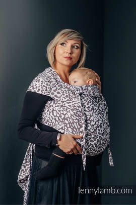 WRAP-TAI carrier Toddler with hood/ jacquard twill / 100% cotton / CHEETAH DARK BROWN & WHITE (grade B)