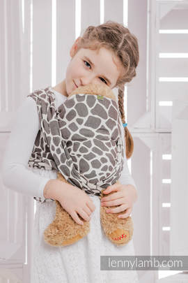 Doll Sling, Jacquard Weave, 100% cotton - GIRAFFE DARK BROWN & CREME