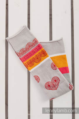 LennyLegs Long - baby leg warmers - CHERRY LACE
