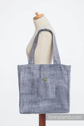 Shoulder bag made of wrap fabric (100% cotton) - DENIM BLUE - standard size 37cmx37cm