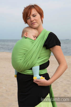 Baby Sling, Diamond Weave, 100% cotton - Green Diamond - size XL (grade B)