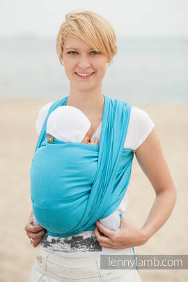 Baby Sling, Diamond Weave, 100% cotton - Turquoise Diamond - size L (grade B)
