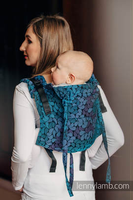 Lenny Buckle Onbuhimo, toddler size, jacquard weave (100% cotton) - Wrap conversion from COLORS OF NIGHT