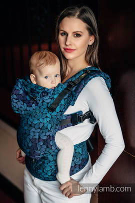 Ergonomic Carrier, Baby Size, jacquard weave 100% cotton - COLORS OF NIGHT - Second Generation