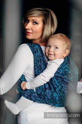 Baby Wrap, Jacquard Weave (100% cotton) - COLORS OF NIGHT - size L
