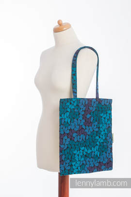 Shopping bag made of wrap fabric (100% cotton) - COLORS OF NIGHT