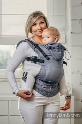 Basic Line Ergonomic Carrier - JEANS, Baby Size, broken-twill weave 100% cotton - Second Generation