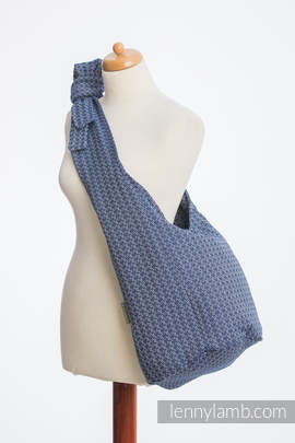 Hobo Bag made of woven fabric, 60% cotton, 40% bamboo - LITTLE LOVE - AQUA