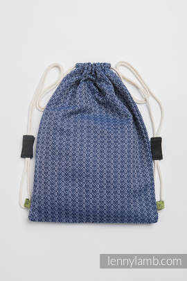Sackpack made of wrap fabric (60% cotton, 40% bamboo) - LITTLE LOVE - AQUA - standard size 35cmx45cm