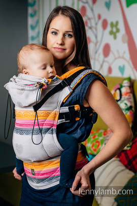 Ergonomic Carrier, Toddler Size, jacquard weave 60% cotton 40% bamboo - wrap conversion from VANILLA LACE 2.0, Second Generation
