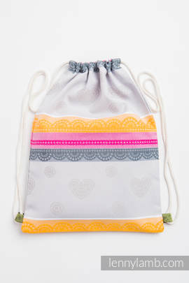 Sackpack made of wrap fabric (100% cotton) - VANILLA LACE - COTTON 2.0 - standard size 32cmx43cm