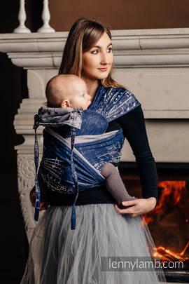 WRAP-TAI carrier Toddler with hood/ jacquard twill / 100% cotton / SYMPHONY NAVY BLUE & GREY