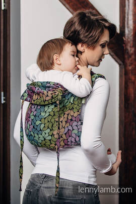 Lenny Buckle Onbuhimo, toddler size, jacquard weave (100% cotton) - Wrap conversion from COLORS OF RAIN