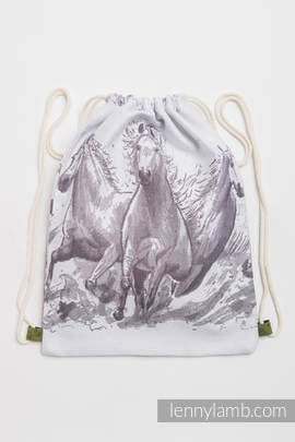 Sackpack made of wrap fabric (100% cotton) - GALLOP - standard size 35cmx45cm