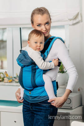 Ergonomic Carrier, Baby Size, broken-twill weave 100% cotton - wrap conversion from OCEAN DEPTH - Second Generation