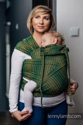WRAP-TAI carrier Mini with hood/ jacquard twill / 100% cotton / LITTLE LOVE - LEMON TREE