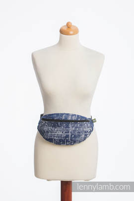Waist Bag made of woven fabric, (100% cotton) - SYMPHONY NAVY BLUE & GREY