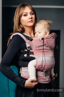 Ergonomic Carrier, Baby Size, herringbone weave 100% cotton - wrap conversion from LITTLE HERRINGBONE ELEGANCE - Second Generation