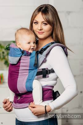 Ergonomic Carrier, Baby Size, diamond weave 100% cotton - wrap conversion from NORWEGIAN DIAMOND - Second Generation.