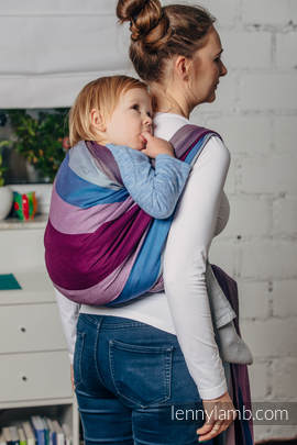 Baby Sling, Diamond Weave, 100% cotton - Norwegian Diamond - size L