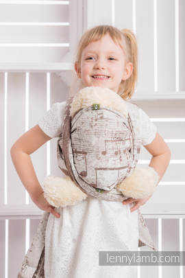 Doll Sling, Jacquard Weave, 100% cotton - SYMPHONY CREME & BROWN