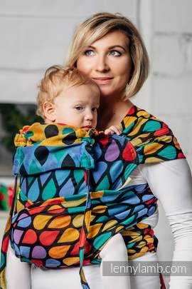 WRAP-TAI carrier Toddler with hood/ jacquard twill / 100% cotton / JOYFUL TIME