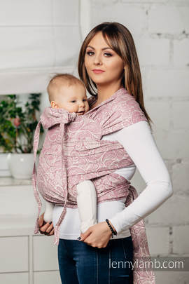 WRAP-TAI carrier Toddler with hood/ jacquard twill / 100% cotton / PAISLEY PURPLE & CREAM