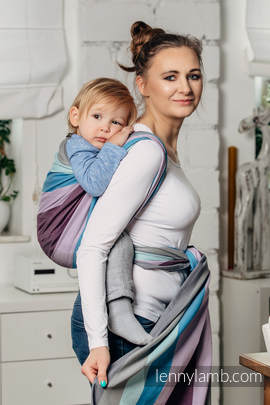 Baby Sling, Diamond Weave, 100% cotton - Icelandic Diamond - size L