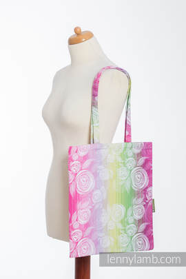 Shopping bag made of wrap fabric (100% cotton) - ROSE BLOSSOM (grade B)