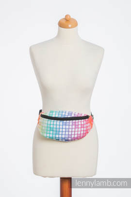 Waist Bag made of woven fabric, (100% cotton) - MOSAIC - RAINBOW