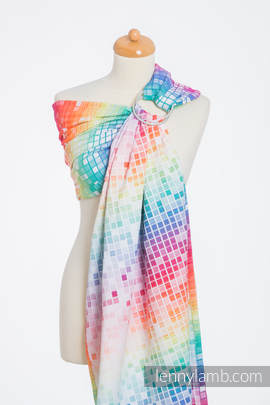 Ringsling, Jacquard Weave (100% cotton) - MOSAIC - RAINBOW