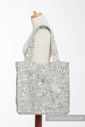 Shoulder bag made of wrap fabric (100% cotton) - PANORAMA  - standard size 37cmx37cm
