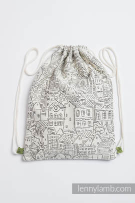 Sackpack made of wrap fabric (100% cotton) - PANORAMA  - standard size 35cmx45cm
