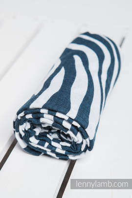 Swaddle Wrap - ZEBRA NAVY BLUE & WHITE (grade B)