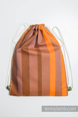 Sackpack made of wrap fabric (100% cotton) - AUTUMN FANTASY - standard size 35cmx45cm