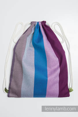 Sackpack made of wrap fabric (100% cotton) - NORWEGIAN DIAMOND- standard size 35cmx45cm