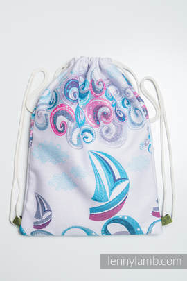 Sackpack made of wrap fabric (100% cotton) - HIGH TIDE - standard size 32cmx43cm (grade B)
