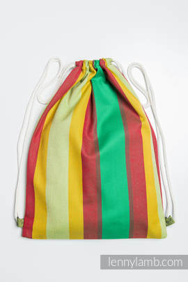 Sackpack made of wrap fabric (100% cotton) - INDIAN SUMMER - standard size 35cmx45cm