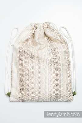 Sackpack made of wrap fabric (100% cotton) - LITTLE LOVE TIRAMISU - standard size 32cmx43cm