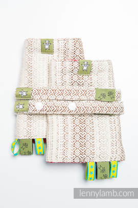 Drool Pads & Reach Straps Set, (100% cotton) - LITTLE LOVE - TIRAMISU
