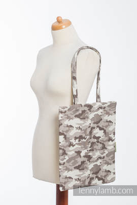 Shopping bag made of wrap fabric (100% cotton) - BEIGE CAMO