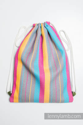 Sackpack made of wrap fabric (100% cotton) - LITTLE HERRINGBONE DAYLIGHTS - standard size 32cmx43cm (grade B)