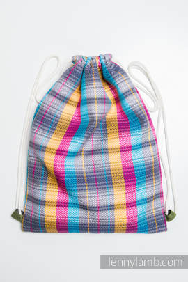 Sackpack made of wrap fabric (100% cotton) - LITTLE HERRINGBONE CITYLIGHTS - standard size 35cmx45cm