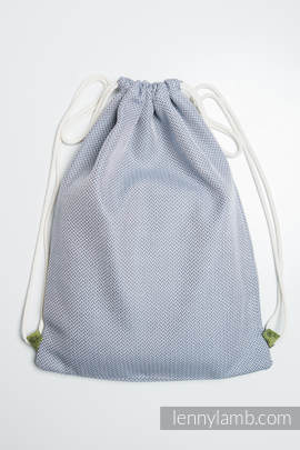 Sackpack made of wrap fabric (100% cotton) - LITTLE HERRINGBONE GREY - standard size 32cmx43cm