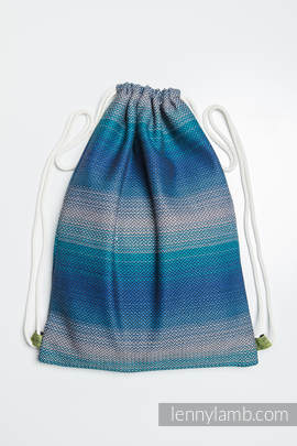 Sackpack made of wrap fabric (100% cotton) - LITTLE HERRINGBONE ILLUSION - standard size 32cmx43cm