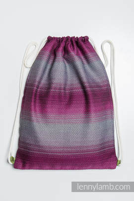 Sackpack made of wrap fabric (100% cotton) - LITTLE HERRINGBONE INSPIRATION - standard size 32cmx43cm