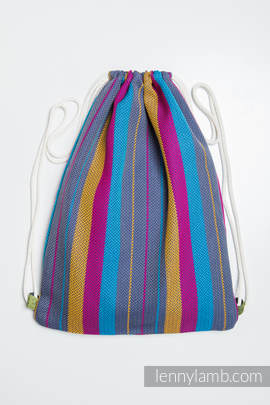 Sackpack made of wrap fabric (100% cotton) - LITTLE HERRINGBONE NIGHTLIGHTS - standard size 35cmx45cm