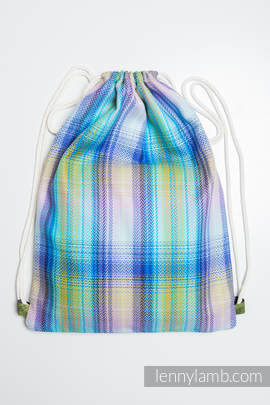 Sackpack made of wrap fabric (100% cotton) - LITTLE HERRINGBONE PETREA - standard size 35cmx45cm